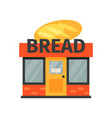 bread shop stage of bread production process on a vector image