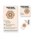 Brochures design for social infographic diagram vector image vector image