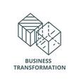 Business transformation line icon