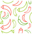 chili seamless pattern outline vegetable set for vector image vector image