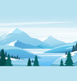 christmas winter mountain landscape snowy rocks vector image vector image