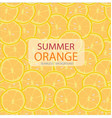 circle slices of orange pattern seamless vector image vector image