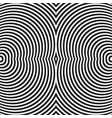 circular radiating lines concentric circles vector image