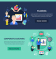 coaching banners set vector image vector image