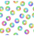 colorful digital disc seamless pattern vector image