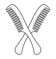 Combs icon outline style vector image vector image