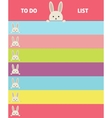 Design notebook format Banner with bunnies vector image vector image