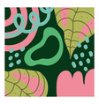 doodle contemporary tropical leaf floral vector image