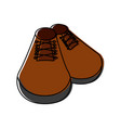 fashion shoes footwear vector image
