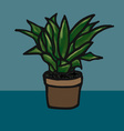 Flower in a pot image vector image vector image