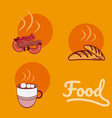 foods and drink vector image