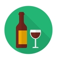 glass and bottle wine vector image vector image