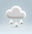 Glossy white plastic weather icon vector image vector image