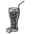 grayscale soda water vector image vector image