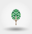 green tree icon flat vector image vector image