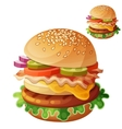 Hamburger Food icon isolated on white vector image vector image