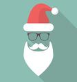 Hat Beard Mustache and Glasses of Santa vector image