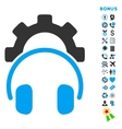 Headphones Configuration Flat Icon with vector image