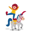 Horse and clown icon Circus and Carnival design vector image vector image