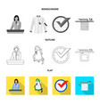 isolated object of laundry and clean sign vector image