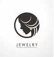 jewelry logo symbol design vector image