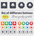 Kitchen hood icon sign Big set of colorful diverse vector image vector image