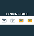 landing page icon set four simple symbols in vector image vector image