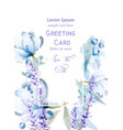lavemder flowers watercolor card delicate vector image vector image