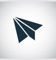 little plane icon simple flat element design vector image vector image