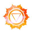 manipura chakra with outer space vector image vector image