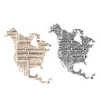 map of continent north america vector image vector image