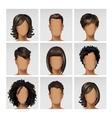 Multinational Male Female Face Avatar Profile vector image