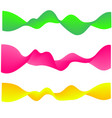 neon flowing wave gradient abstract shapes vector image vector image