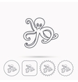 Octopus icon Ocean devilfish sign vector image vector image