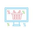 online shopping neon vector image vector image