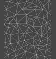polygonal pattern templates vector image vector image