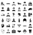 recruitment icons set simple style vector image vector image