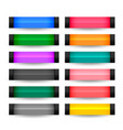 rectangle buttons set in many colors vector image