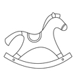 Rocking horse toy icon outline style vector image vector image