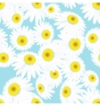 Seamless daisies pattern EPS 10 vector image