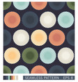 seamless pattern abstract decoration from circles vector image vector image