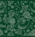 seamless pattern of life in the swamp vector image