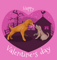 secret meeting of dogs in love vector image