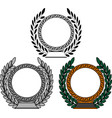 set of frames with laurel wreaths vector image vector image