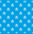 small ship pattern seamless blue vector image vector image
