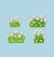 spring and summer floral bundles set with white vector image
