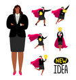 successful afroamerican businesswoman - new idea vector image