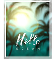 Summer background sea beach palms vector image vector image