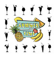 summer party card background tropical fruit vector image vector image
