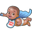 Super baby african american cartoon clipart ai